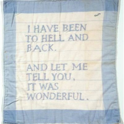 I have been to hell and back- louise Bourgeois 1966