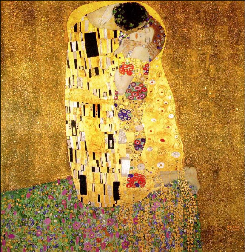 Klimt-the-kiss- free your happy art
